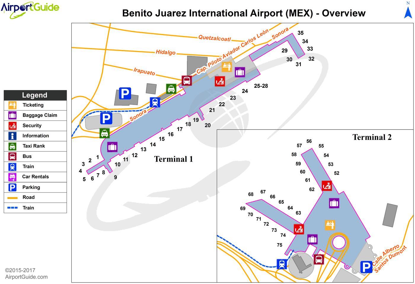 benito juarez aeroporto mappa - aeroporto internazionale